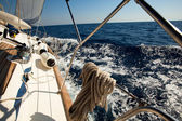 Sailing yacht race — Stock Photo