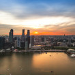 SINGAPORE - APRIL 15: A view of city from roof Marina Bay Hotel on April 15, 2012 on Singapore. — Stockfoto