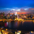 SINGAPORE - APRIL 15: A view of city from roof Marina Bay Hotel on April 15, 2012 on Singapore. — Stock Photo