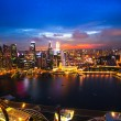 SINGAPORE - APRIL 15: A view of city from roof Marina Bay Hotel on April 15, 2012 on Singapore. — Zdjęcie stockowe