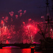 ST.PETERSBURG, RUSSIA - JUNE 24: Celebration Scarlet Sails show during the White Nights Festival, June 24, 2013, St. Petersburg, Russia. From 2010, public attendance grew to 3 million. — Stock Photo