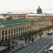 ST.PETERSBURG, RUSSI- JUN 26: Top view of Metro and mall Gostiny Dvor on Nevsky Prospect, Jun 26, 2013, SPb, Russia. Station opened on 1967, is one of busiest stations in entire SPb Metro. — Stock Photo #28997179