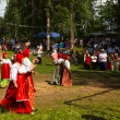 TERVENICHI, RUSSIA - JUL 7: Local people celebrated Ivan Kupala Day, Jul 7, 2013, Tervenichi, Russia. The celebration relates to the summer solstice and includes a number of fascinating Pagan rituals. — Lizenzfreies Foto