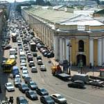 St. Petersburg traffic — Stock Photo
