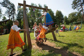 Celebrating Ivana Kupala holiday in Russia — Stock Photo