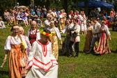 Celebrando ivana kupala vacaciones en rusia — Foto de Stock