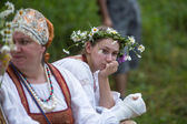 Celebrating Ivana Kupala holiday in Russia — Stock Photo