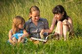 Three little sister — Stock Photo
