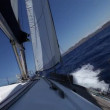 Yachts and blue water sea — Vídeo Stock