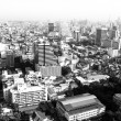 Bird's-eye view of Bangkok, Thailand (black and white photo) — Stock Photo