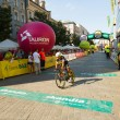 Unidentified participant of 70th Tour de Pologne cycling 7th stage race — Stock Photo