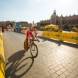 Unidentified participant of 70th Tour de Pologne cycling 7th stage race — Stok fotoğraf