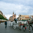 Rynek Glowny - historical center of Krakow — Stock Photo