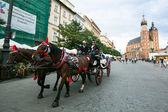 Rynek Glowny - historical center of Krakow — Stock Photo