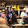 An unidentified cambodians in Angkor Wat — Stock Photo