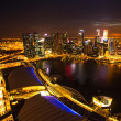 A view of city from roof Marina Bay Hotel — Stock Photo