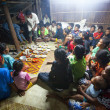 Stock Photo: Unidentified people Orang Asli during ceremonial dinner