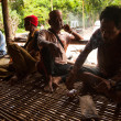 Unidentified people Orang Asli in his village — Stok fotoğraf