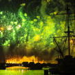 Celebration Scarlet Sails show during the White Nights Festival — ストック写真