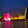 Celebration Scarlet Sails show during the White Nights Festival — 图库照片