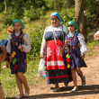 Unidentified children during Ivan Kupala Day — Stock Photo