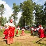 Local people celebrated Ivan Kupala Day — Stock Photo