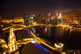 A view of city from roof Marina Bay Hotel — 图库照片