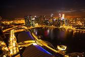 Une vue de la ville de toit marina bay hôtel — Photo