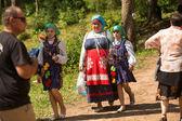 Unidentified children during Ivan Kupala Day — Stock Photo