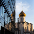 Temple of St. Nicholas at Tverskaya Zastava in Moscow — Stock Photo