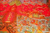 Fragmento de pintura en el interior de un templo budista en tailandia — Foto de Stock