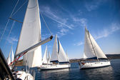 Yachting in Greece. Sailing. — Stock Photo