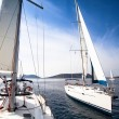 Sailing. Travel. Luxury Yacht. — Stockfoto