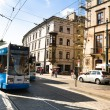 One of the streets in historical center of Krakow, Krakow, Poland — Stock Photo