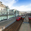 Photo: View of Belorussky railway station