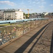 Footbridge OjcBernatk- bridge over VistulRiver in Krakow, Poland — Stock Photo #30969347