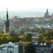 Top view of historical center of Krakow — Stockfoto #30969477