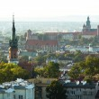 Stockfoto: Top view of historical center of Krakow