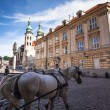 One of the streets in historical center of Krakow — Stock Photo