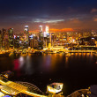 A view of city from roof Marina Bay Hotel — Stock Photo #30969543