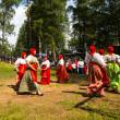 Local people celebrated Ivan Kupala Day — Stock Photo #30969673