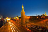 Embankment of the Moskva River near the Kremlin, Moscow Russia — Stock Photo