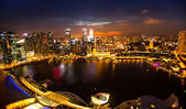 A view of city from roof Marina Bay Hotel — ストック写真