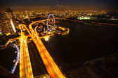 Uma vista da cidade a partir do hotel marina bay de telhado — Foto Stock