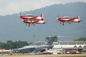 Malajsie akrobatického týmu x330l krisakti — Stock fotografie