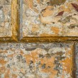 Texture of the old stucco wall stone house. — ストック写真