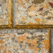 Texture of the old stucco wall stone house. — Foto de Stock