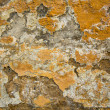 Texture paint on a crumbling of the old stucco wall stone house. — Foto de Stock