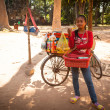 An unidentified cambodian street seller in Angkor Wat — Stock Photo