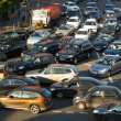 Cars stands in traffic jam on the city center, Moscow, Russia — 图库照片